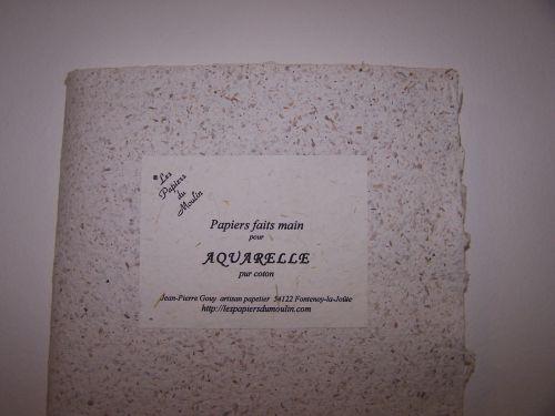 pochette papier aquarelle 21x30 env les papiers du moulin. Black Bedroom Furniture Sets. Home Design Ideas